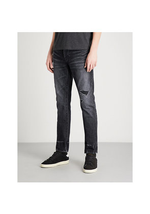Distressed slim-fit skinny jeans