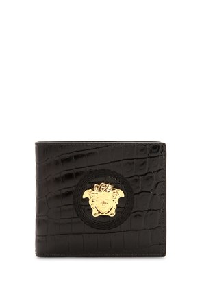 MEDUSA CROC EMBOSSED LEATHER COIN WALLET