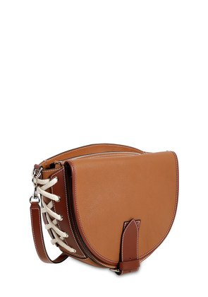 SADDLE TWO TONE LEATHER SHOULDER BAG