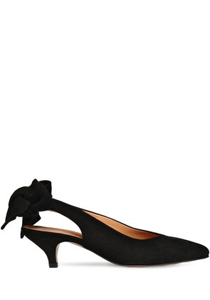 60MM SABINE SUEDE SLINGBACK PUMPS