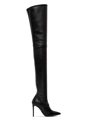 100MM AMAZONE STRETCH LEATHER BOOTS