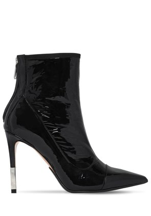 110MM BLAIR PATENT LEATHER ANKLE BOOTS