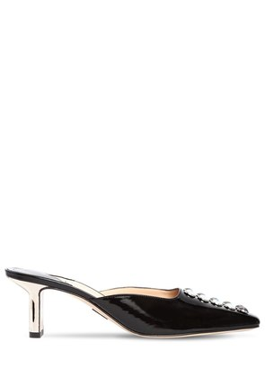 55MM EMBELLISHED PATENT LEATHER MULES