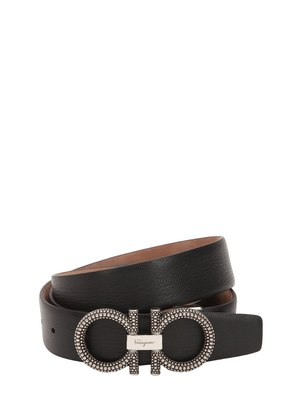 35MM STUDDED LEATHER BELT