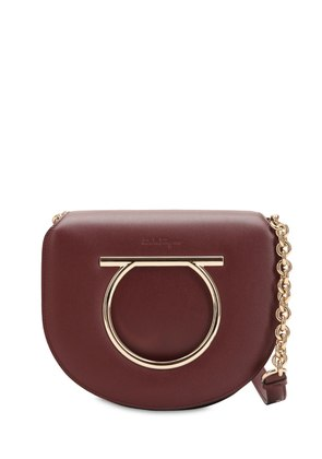 MEDIUM VELA LEATHER SHOULDER BAG