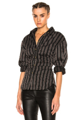 Isabel Marant Verona Top in Black,Stripes,Red