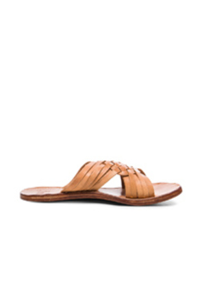 Beek Leather Swallow Sandals in Neutrals