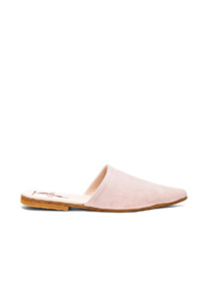 Brother Vellies Suede Sister Mules in Pink