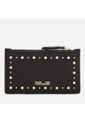 Diane von Furstenberg Women's Zip Top Card Case - Black