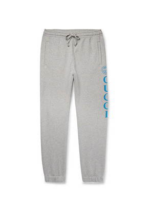 Tapered Logo-print Loopback Cotton-jersey Sweatpants
