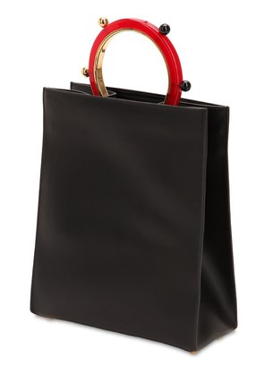 PANNIER LEATHER TOTE BAG