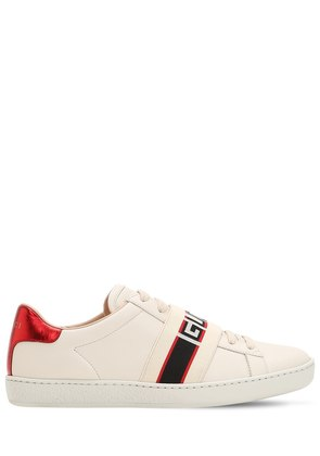 NEW ACE ELASTIC BAND LEATHER SNEAKERS