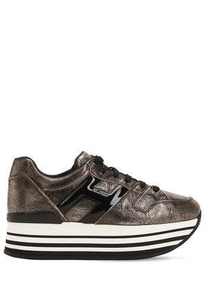 70MM MAXI 222 CRACKLED LEATHER SNEAKERS