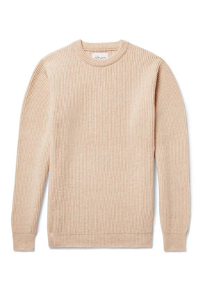 Ribbed Mélange Wool Sweater
