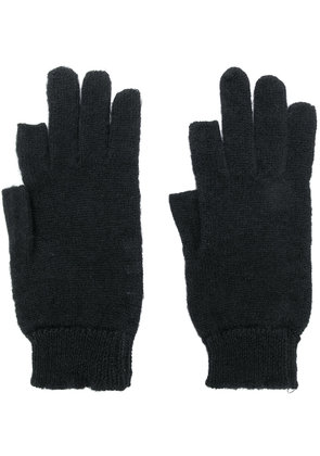 Rick Owens thumb and forefinger gloves - Black