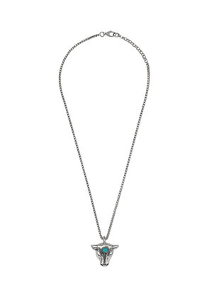 Gucci Anger Forest bull's head necklace - Metallic