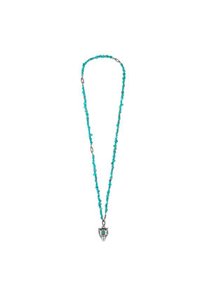 Gucci Anger Forest beaded necklace in silver - Blue