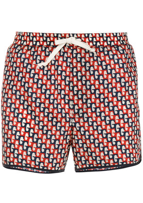 Gucci abstract print swim shorts - Red