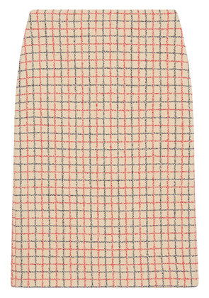 Gucci Vintage overcheck pencil skirt - Nude & Neutrals