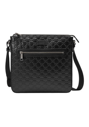 Gucci Gucci Signature leather messenger - Black