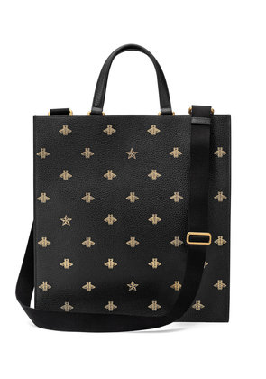 Gucci Bee Star leather tote - Black