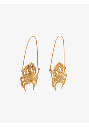Givenchy gold tone crab earring
