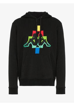 Marcelo Burlon County Of Milan Kappa logo embroidered cotton blend hoodie