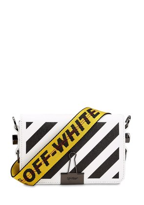 MINI DIAGONAL STRIPES LEATHER BAG