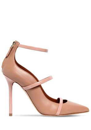 100MM ROBYN STRAPS LEATHER PUMPS