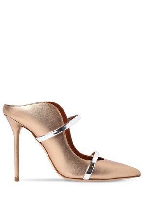 100MM MAUREEN METALLIC LEATHER MULES