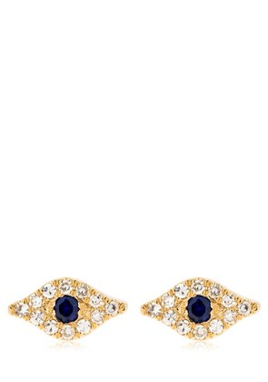 DIAMOND EVIL EYE 14KT GOLD STUD EARRINGS