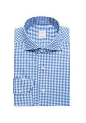 100Hands Blue and White Check Cotton Shirt