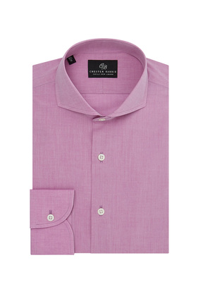 Chester Barrie Pink Spread Collar Fine Chambray Cotton Shirt