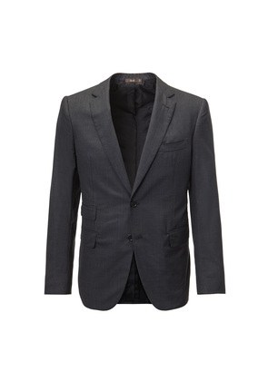 Cifonelli Charcoal Single-Breasted Two Piece Wool Suit