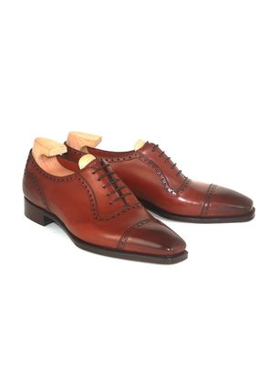 Gaziano & Girling Cherry St James II Vintage Leather Oxfords