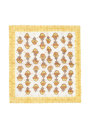 Calabrese 1924 Yellow and Orange Bouquet Linen Pocket Square
