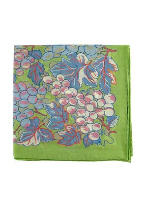 Augustus Hare Lime and Blue Vines Cotton Pocket Square