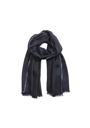 Cifonelli Navy Cashmere And Silk Scarf