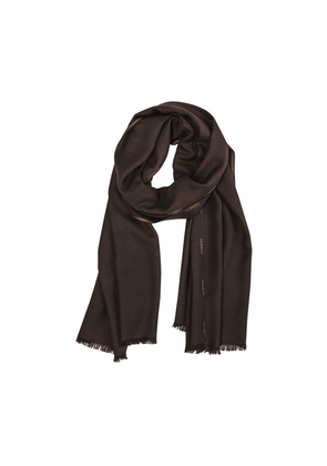 Cifonelli Brown Cashmere and Silk Foulard