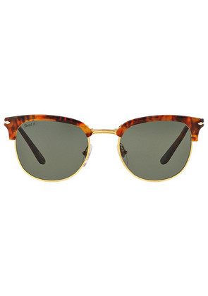 Persol Icons PO3132S 108/58 Caffe with Crystal Green Lenses Sunglasses