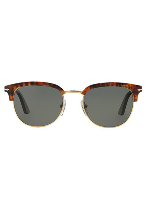Persol Icons PO3105S 108/58 Caffe with Crystal Green Lenses Sunglasses