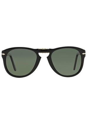 Persol Icons PO0714 Steve McQueen 95/58 Folding Black with Green Polarized Lenses Sunglasses