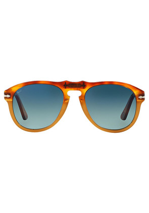 Persol Icons PO0649 1025/S3 Resina e Sale with Blue Lenses Sunglasses