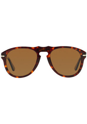 Persol Icons PO0649 24/57 Havana with Crystal Brown Lenses Sunglasses