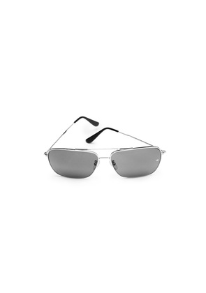 Oliver Goldsmith Wise Guy (1976) Silver & Grey (Silver with Barberini Glass Lenses) Sunglasses
