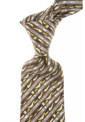 Emilio Pucci Ties On Sale, Brown, Silk, 2017