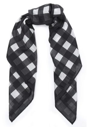 Rag & Bone Woman Gingham Cotton And Silk-blend Scarf Multicolor Size -