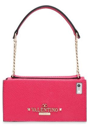 Valentino Woman Leather Iphone 5/5s/se Case Magenta Size -