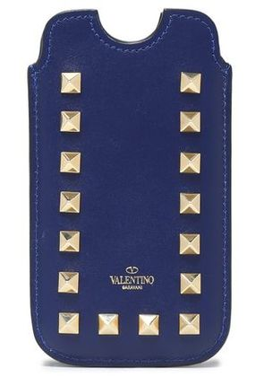 Valentino Woman Leather Iphone 5/5s/se Case Royal Blue Size -
