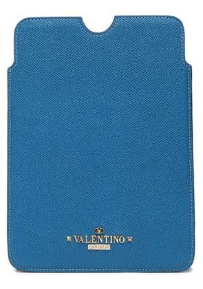 Valentino Woman Leather Tablet Case Storm Blue Size -